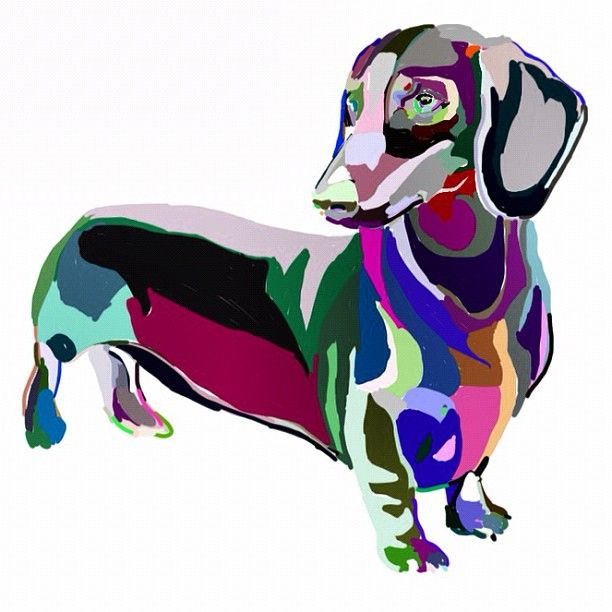 Love this! I have two murano glass dachshunds from Italy, two different times. The store is in Rome. Mine are multi colored....one is red white and blue.