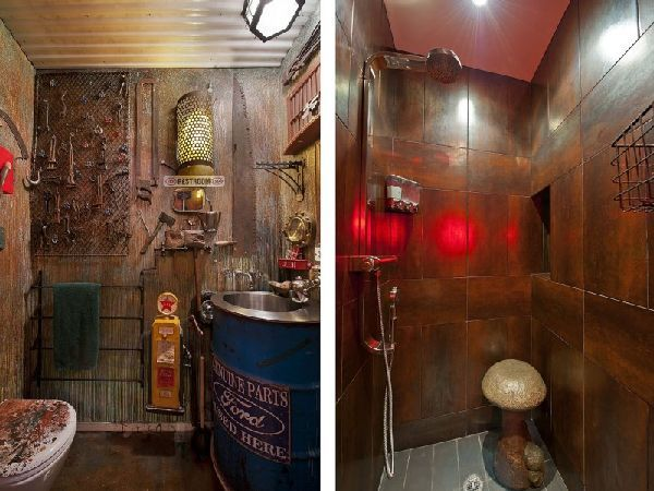 Toilet Design Ideas at Submarine Style Apartment - Surreal Steampunk Apartment in New York City