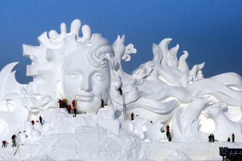 Harbin International Ice and Snow FestivalSome 180000 cubic...  Harbin International Ice and Snow Festival  Some 180000 cubic meters of ice and 150000 cubic meters of snow were used to build the 800000-square-meter ice wonderland. The 33rd Harbin International Ice and Snow Festival will kick off on January 5 2017 and will last about three months. (EPA)  Photo credits: EPA/TIAN WEITAO (3) Reuters  See more photos from Snow Festival and our other slideshows on Yahoo News.