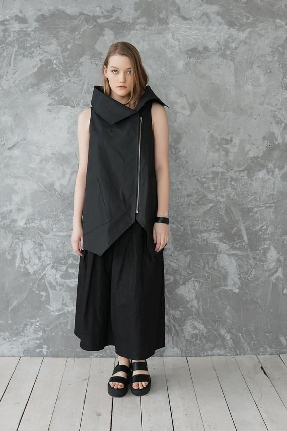 Black waistcoat  Waistcoat  Vest  Jacket  Black vest  Black jacket  Boho  Bohemian clothing  Gift for her  Gift for woman
