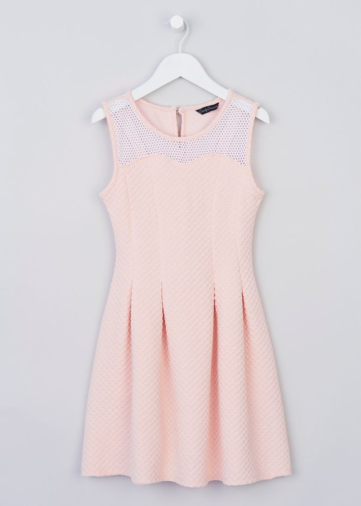 Girls Candy Couture Peach Dress (8-16yrs) - Matalan