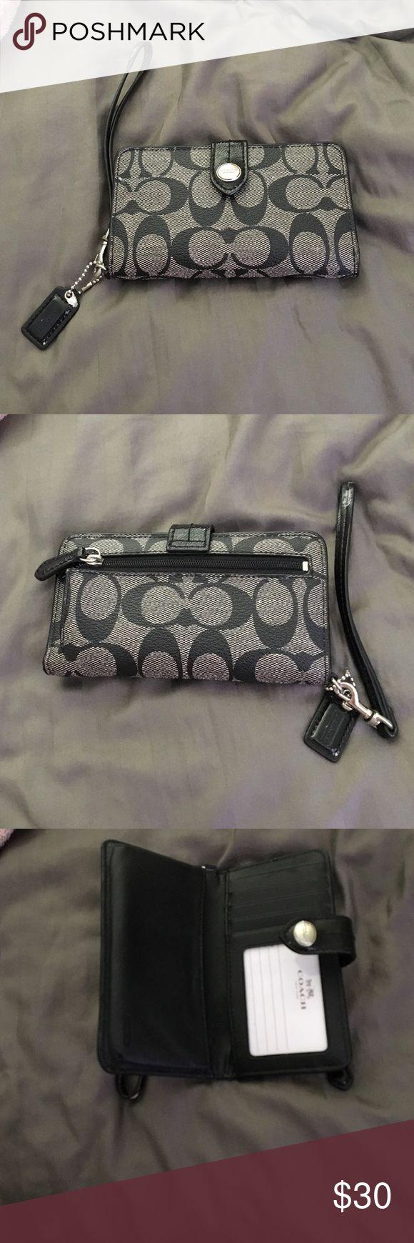 Black and grey coach wallet black and grey coach wallet. Great size and great condition Coach Bags Wallets