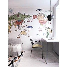 Дизайнерские обои Карта designer Bogdan Shiptenko