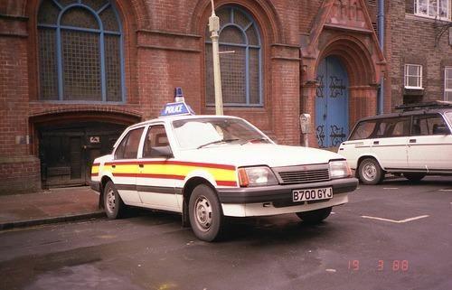 Retro British Police Car - Vauxhall Cavalier