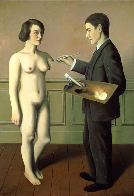 La Tentative de l'impossible [Attempting the Impossible], 1928, by René Magritte