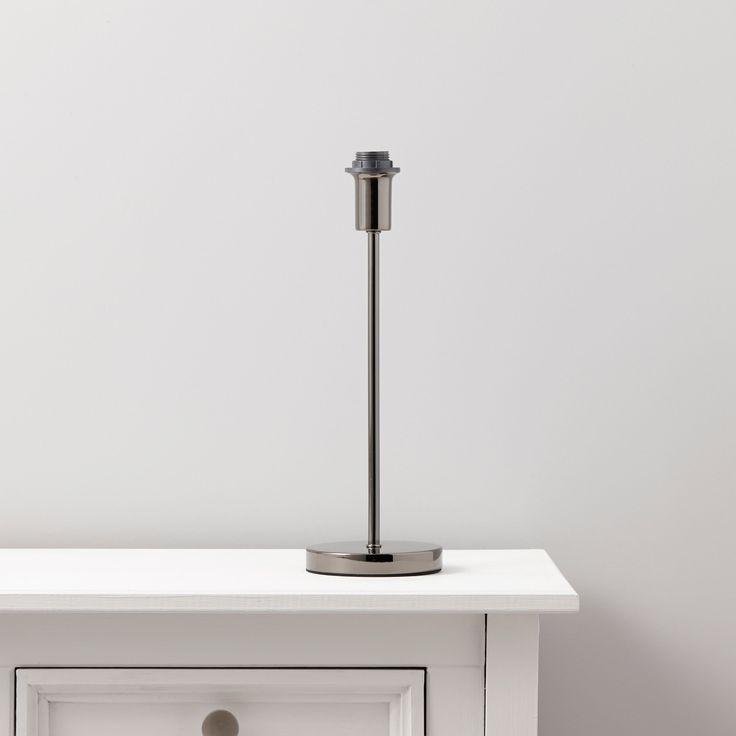 Evinos black chrome effect lamp base