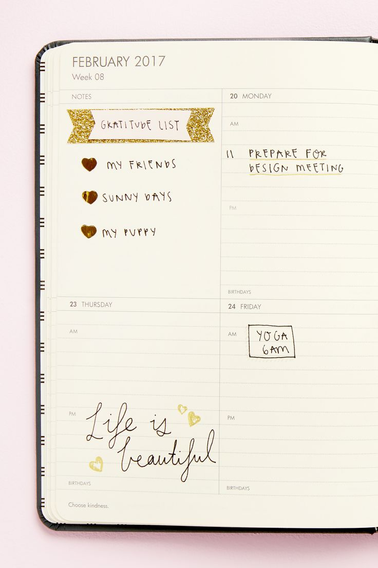 Create your own diary layout and use it as a bullet journal tool to keep track of your organisation, tasks and priorities.
