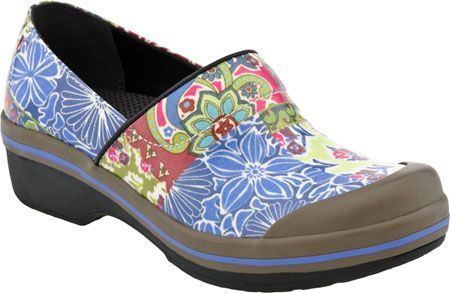 Dansko Volley Rain Shoes in Blue Patchwork from PlanetShoes.com