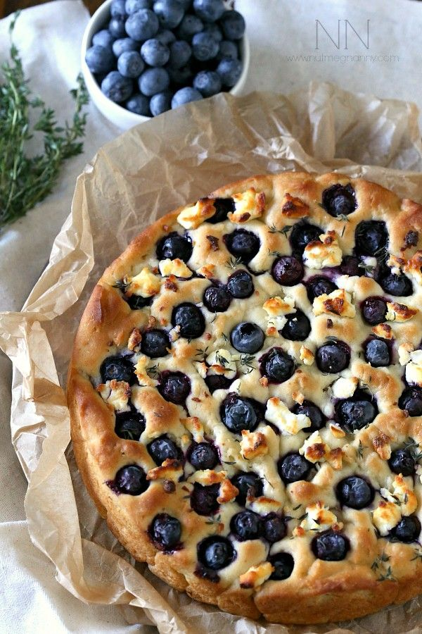 Blueberry Goat Cheese Foccacia Bread #foccacia #glutenfree #pamelasproducts