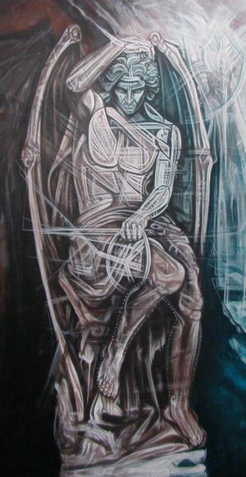 Author: Giò Max Ran Title: Libero Arbitrio Measurements: 120cm x 80cm Technique: Acrylic on canvas