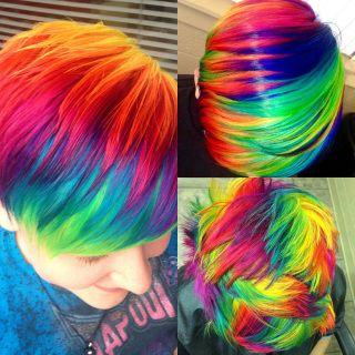How to do Rainbow Hair Color