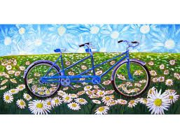 Billedresultat for couple on bicycle painting
