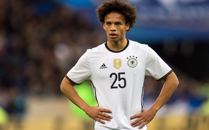Herunterladen hintergrundbild leroy sane, deutsche fußballer, spiel, deutsche nationalmannschaft, fußball