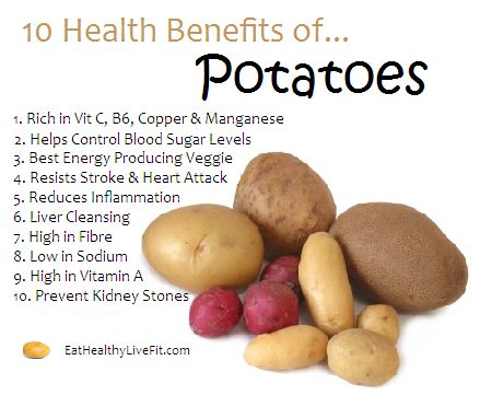 10 Health Benefits of Potatoes.