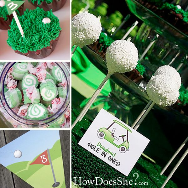 """Golf"" Birthday Party: Golf Ball, Cakes Pop, Golf Cakes, Golf Birthday Parties, Golf Parties, Parties Ideas, Parties Theme, Birthday Ideas, Golf Theme"