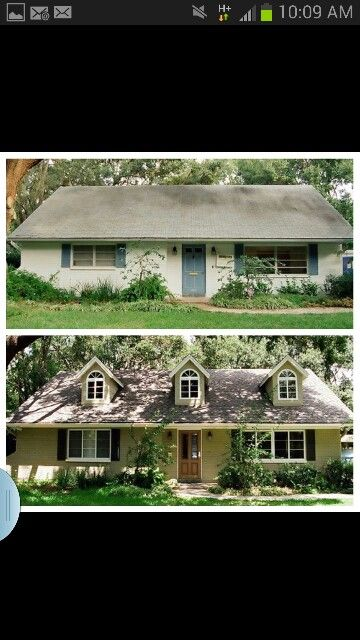 57 best 1950 39 s ranch home makeovers images on pinterest for 50s ranch exterior remodel