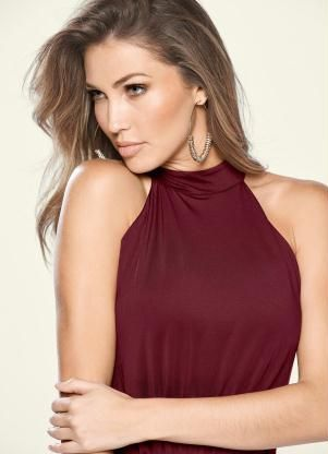 9f0fd458f Vestido Decote Alto Vinho - bonprix | modelagem roupa | Vestidos ...