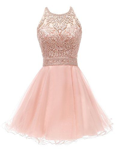WDING 8th Grade Dance Dresses for Teens Tulle Puffy Short 15 Party Dress Pink,8