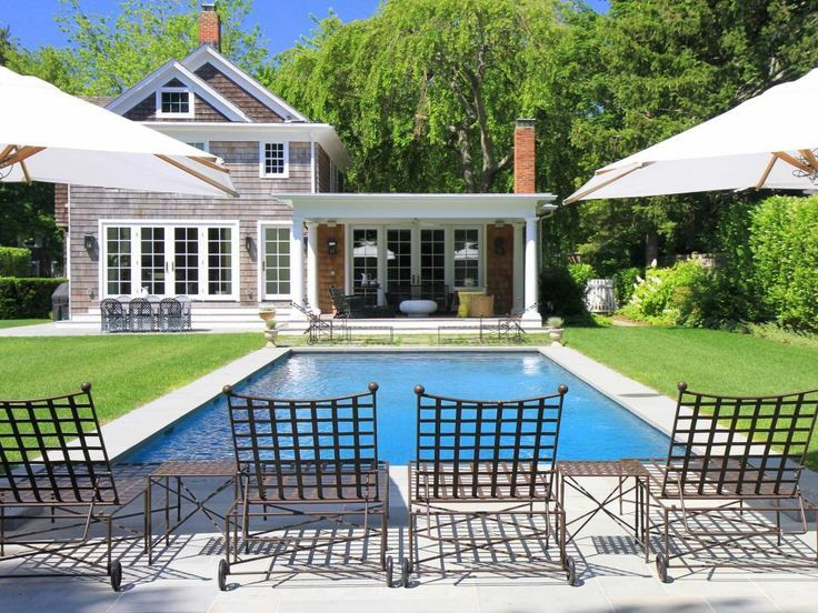 Sunbathe In Style In These Wrought Iron Lounge Chairs Beside The Classic,  Rectangular Swimming · Pool FurnitureFurniture IdeasThe ...