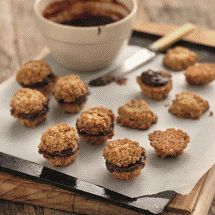 Chocolate Cream Anzac Biscuits
