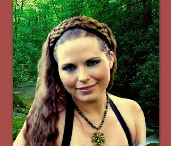 wide hair braided headband hairband Medieval SCA by Puppycatmeow, $54.00