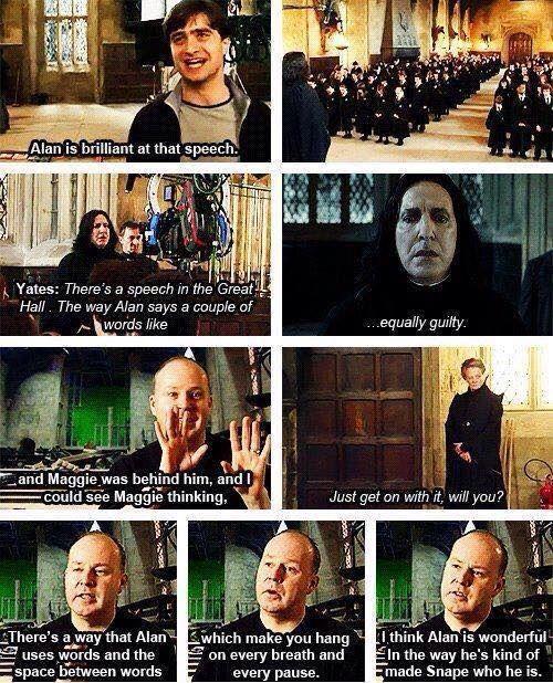 Harry Potter - David Yates about Alan Rickman - Severus Snape