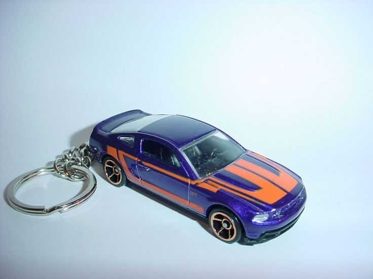 NEW 3D 2010 FORD MUSTANG GT CUSTOM KEYCHAIN keyring key PURPLE finish 10 roush #Unbranded
