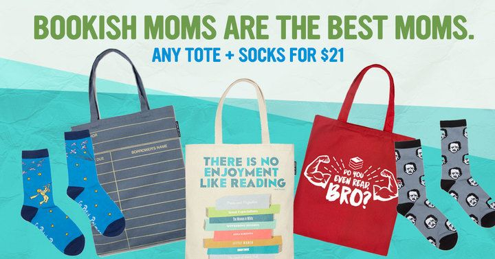 This week in the Book Riot Store, snap up a bookish tote and socks for just $21.
