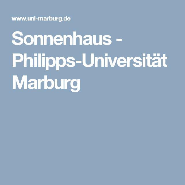 Sonnenhaus - Philipps-Universität Marburg
