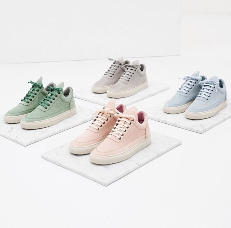 Pieces Solid Sneakers Women Pastel