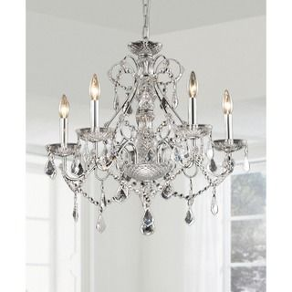New Orleans 5-light Crystal Chandelier   Overstock™ Shopping - Great Deals on Chandeliers & Pendants