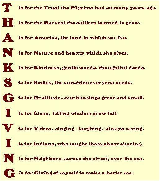 Thanksgiving by Laura Orlando Thanksgiving poems