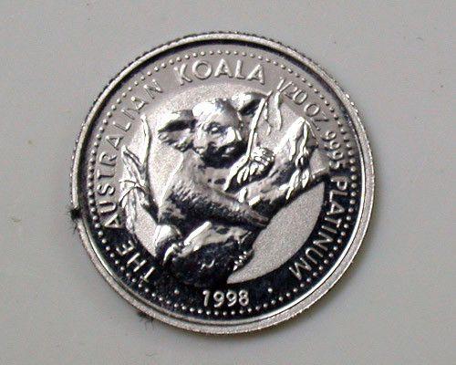 PLATINUM COIN 1/20th KOALA 1998