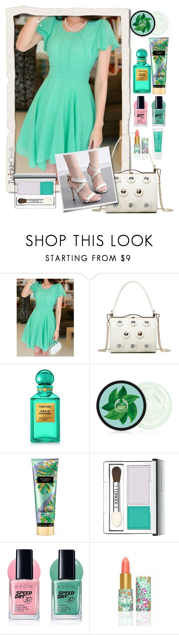 """dress by twinkledeals"" by teto000 ❤ liked on Polyvore featuring Tom Ford, Victoria's Secret, Clinique and Avon"