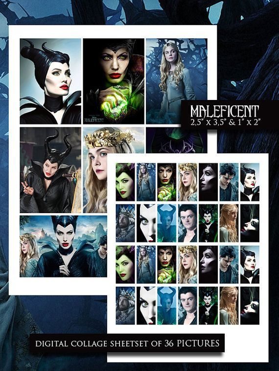 Maleficent Collage Sheet Maleficent Digital by MMPartyPrintables, $2 ...