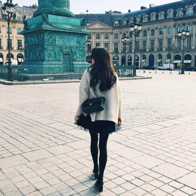 Street style, look in Paris http://mariannelle.com