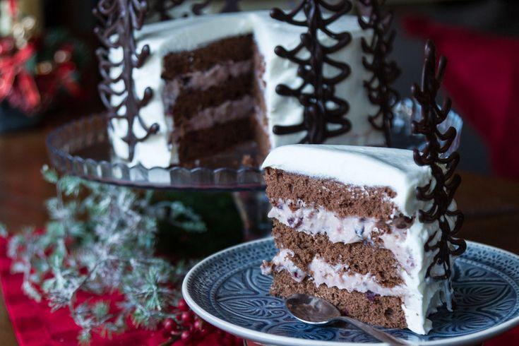 Χριστουγεννιάτικη τούρτα από τον Άκη Πετρετζίκη