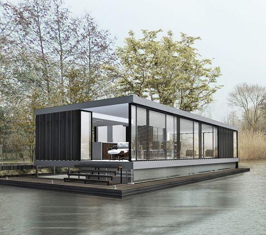 moderne woonboot in de Vecht door architect amsterdam | woonark | floating home