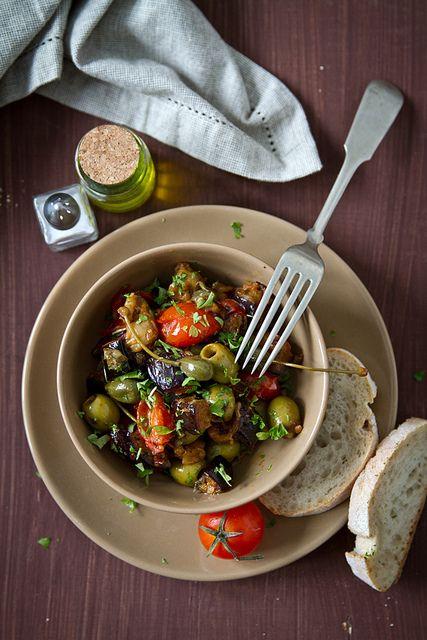 Caponata...... My addiction. I eat olives almost everyday.  #caponata #sicilianrecipes #sicilia #sicily