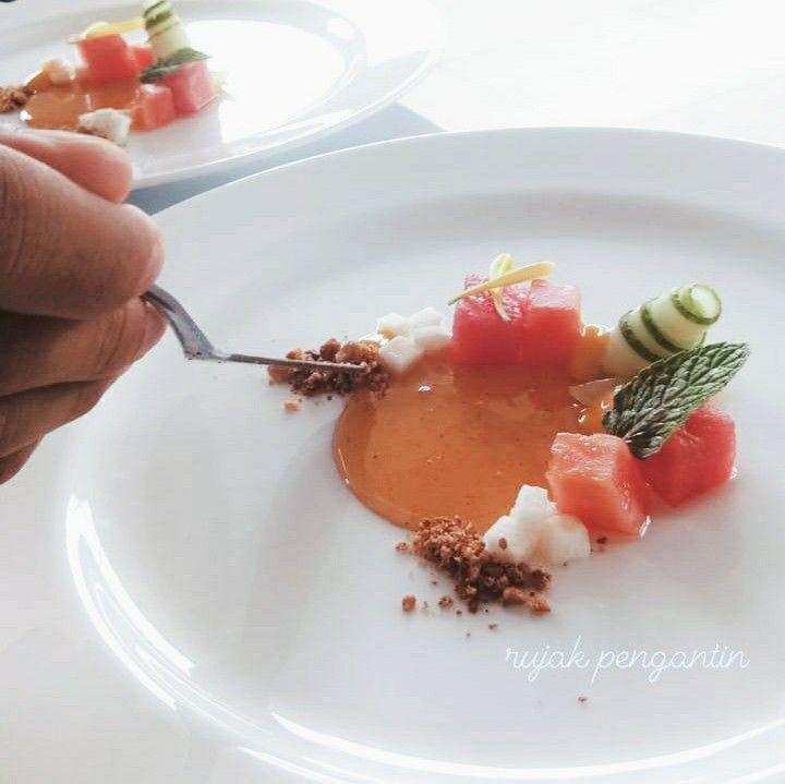 Food Plating Rujak Pengantin Indonesian Food For Fine Dining Penataan Makanan Resep Masakan Indonesia Makanan