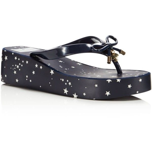 Kate spade sandals, Navy wedge shoes