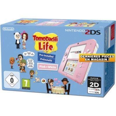 Nintendo 2DS Console 2DS NINTENDO 2DS Rose/Blanche + Tomodachi Life chez Boulanger entre 90 et 99 euros
