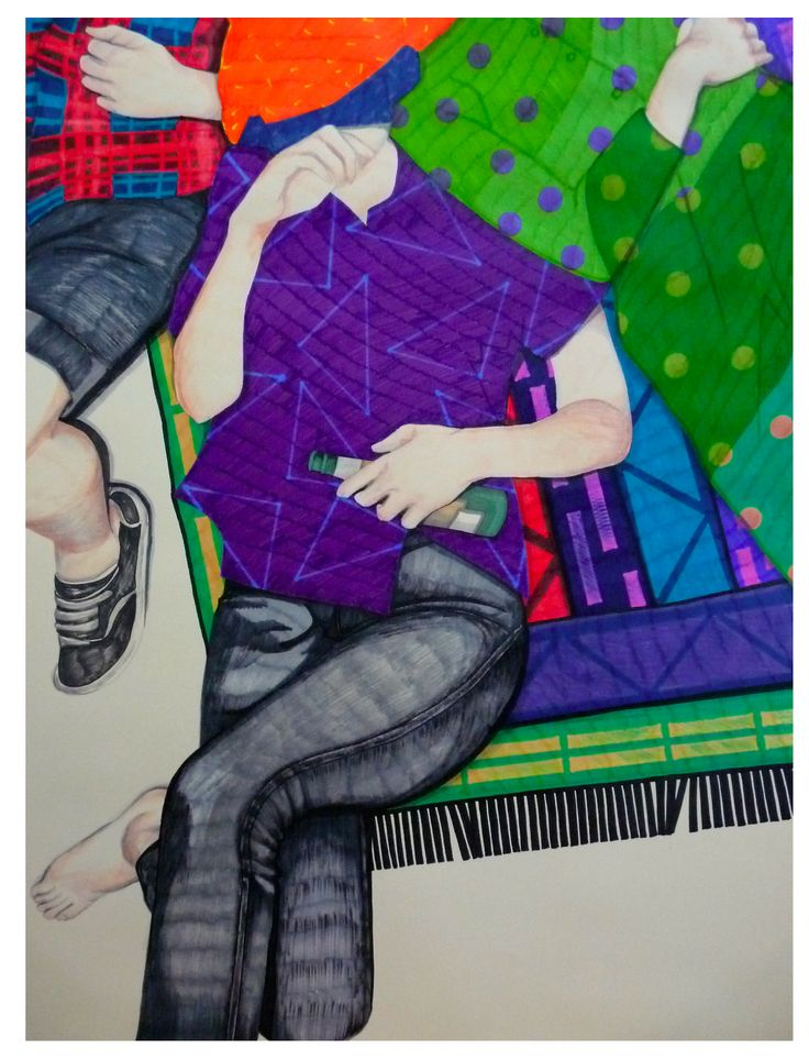 After.2014 Azucena González  #party #after #drawing  #colors