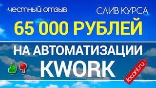 БЕСПЛАТНО. Обучающие курсы для заработка, программы.: 65 000 рублей на автоматизации Kwork
