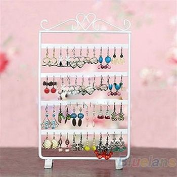 5 euro incl shipping 48 Holes Display Rack Metal Stand Holder Closet Jewelry Earrings Organizers Showcase Packaging & Display Wholesale