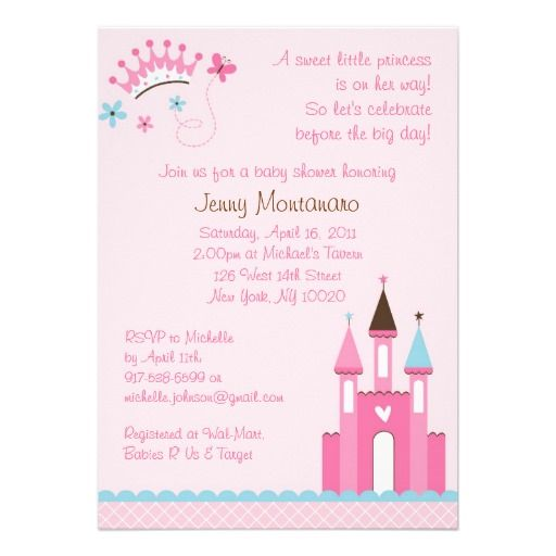 Sweet Princess Baby Girl Baby Shower Invitations