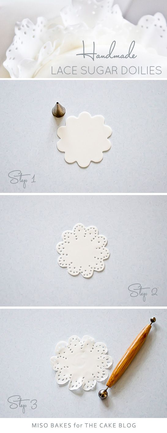 Sugar Lace Doily Tutorial | by Miso Bakes