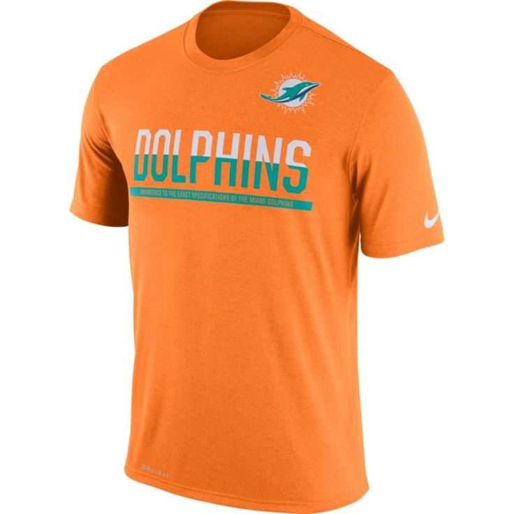 Nike Men's Miami Practice Orange T-Shirt