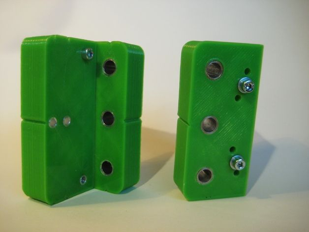 Drill jig for cam lock connector and dowel this mm