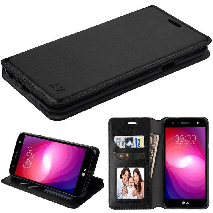 Insten Leatherette Case Cover with Stand/ Wallet Flap Pouch/ Photo Display For LG X Power 2 #2348542